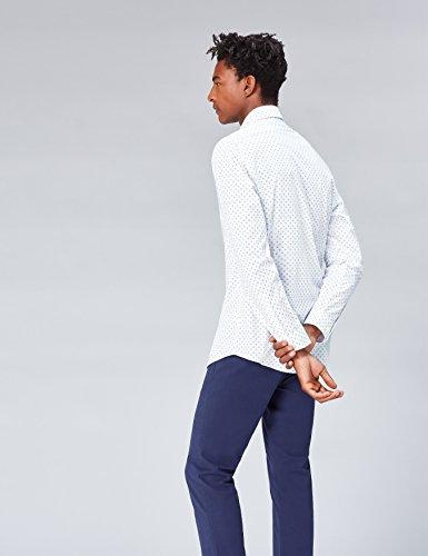 FIND Herren Hemd Charlie Tailored Fit Blau (Blue)