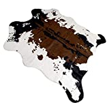 leegoal Tappeto in Pelle di Finta Pelle di Mucca, Tappeto di tappeti a Motivi di Mucca Tappeto di Moquette, Arredamento di casa alla Moda Tappeto per Soggiorno in Camera da letto-160x140cm