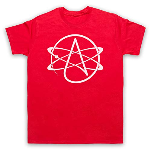 My Icon Art & Clothing Atomic Whirl Atheist Symbol Herren T-Shirt, Rot, 4XL