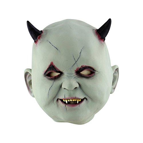 Wongfon Halloween Böse Puppe Maske Scary Zombie Latex Maske für Erwachsene Maskerade Party Kostüme