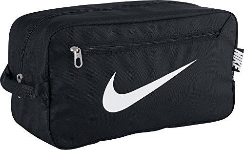 NIKE Herren Sporttasche Brasilia 6 Shoe Bag Black/White, 34 x 18 x 15 cm, 9 Liter (Kleines Adidas Kind Fußballschuh)