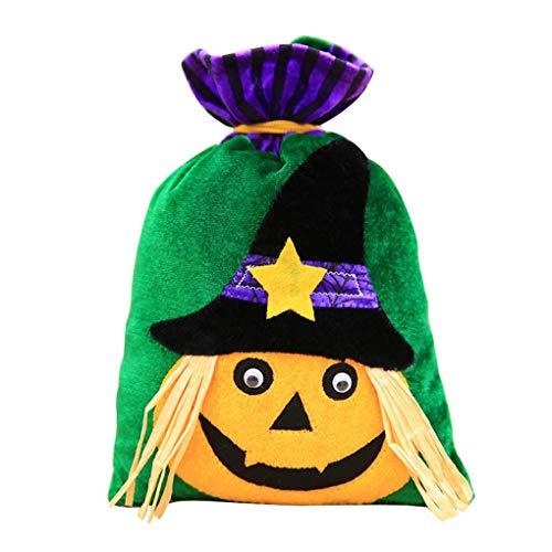 (Lidahaotin Halloween-Beutel der Kürbis-Katzen-Hexe-Geschenk-Beutel für Kinder-Kostüm-Party-Bevorzugungen Supplies #3)