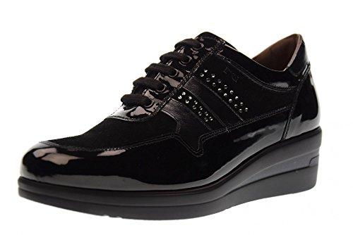 NERO GIARDINI Scarpe Donna Sneakers Basse con Zeppa A719202D/100 Nero Nero