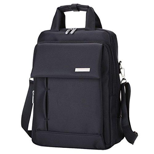 Multifunktionale Schultertasche Männer Und Frauen Computer Tasche Rucksack Lässig Einfach Wild Black