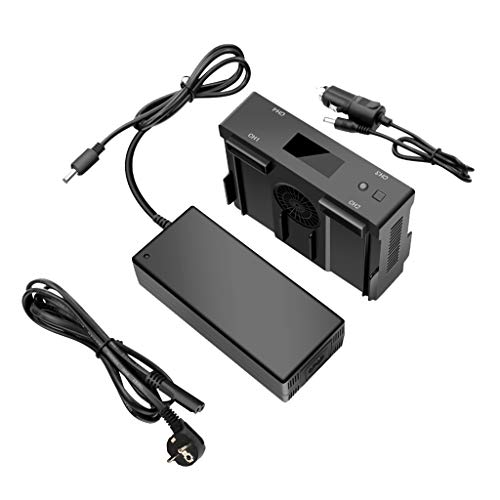 Sunnywill Adattatore per Caricabatterie Super Fast Balanced 4 in 1 per DJI Mavic 2 PRO / Zoom con accendisigari può Essere utilizzato nel Supporto per Auto DC11-14V 10A.
