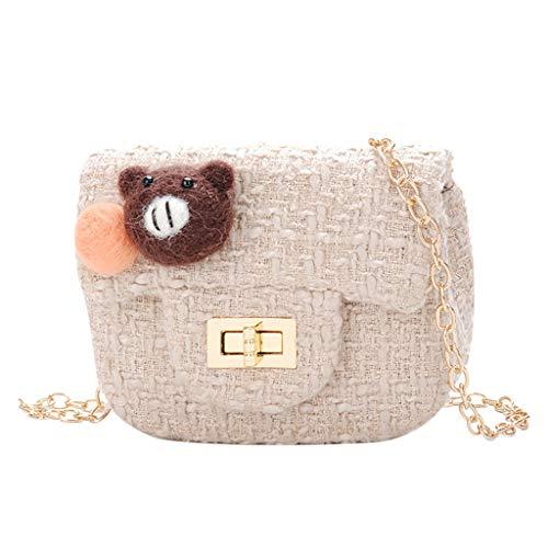 Beikoard Kinder Backpack,Woolen Kinder Tasche Cute Messenger Bag Mini Mädchen Kette Tier Zubehörtasche