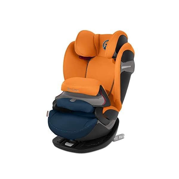 CYBEX Gold Pallas S-Fix 2-in-1 Child's Car Seat, For Cars with and without ISOFIX, Group 1/2/3 (9-36 kg), From approx. 9 Months to approx. 12 Years, Tropical Blue Cybex Sturdy and high-quality child car seat for long-term use - For children aged approx. 9 months to approx. 12 years (9-36 kg), Suitable for cars with and without ISOFIX Maximum safety - Depth-adjustable impact shield, 3-way adjustable reclining headrest, Built-in side impact protection (L.S.P. System), Energy-absorbing shell 12-way height-adjustable comfort headrest, One-hand adjustable reclining position, Easy conversion to Solution S-Fix car seat for children 3 years and older (group 2/3) by removing impact shield and base 1
