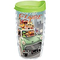 Tervis Disney Muppets Most Wanted Wavy/Wrap Tumbler with Lime Green Lid, 10-Ounce by Tervis