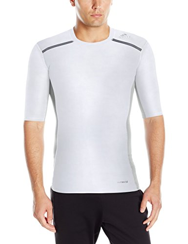 Allenamento da uomo Adidas Techfit Climachill shorts Sleeve tee White