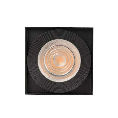 OSALADI 7W 3000K Warmweißes LED-Downlight zur Deckenmontage Free Punching Anti-Fog-Downlight (Schwarz)