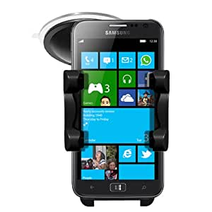 Samsung Ativ S In Car Holder Windscreen Mount Rotating Cradle By Sunwire® - Includes In Car Charger
