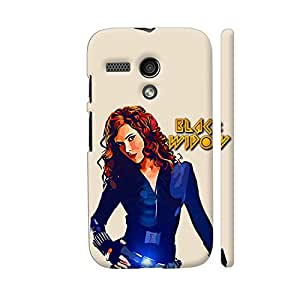 Colorpur Black Widow Designer Mobile Phone Case Back Cover For Motorola Moto G1 | Artist: Divakar Vikramjeet Singh