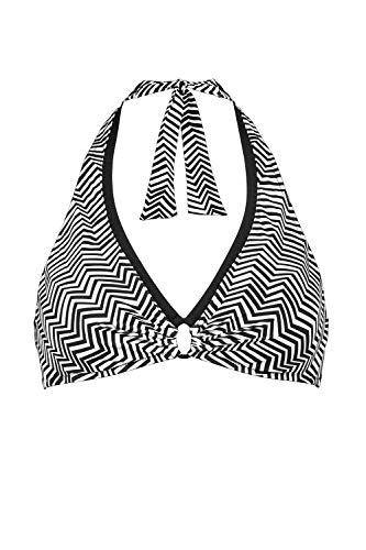 Lidea Neckholder-Bikini-Oberteil Größe 40A, Farbe Black-White