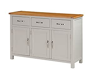 metro painted oak large sideboard with 3 drawers and 3. Black Bedroom Furniture Sets. Home Design Ideas