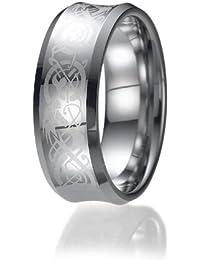 8mm keltischen Drachen unisex Wolfram Ehering