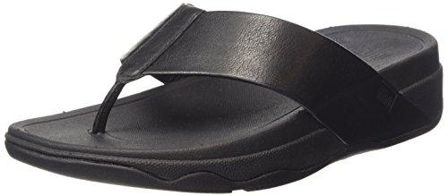 Fitflop Surfa Tm Leather Infradito, Donna, Nero (All Black), 39