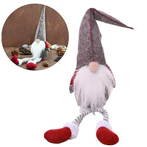 Allespoir regali di natale ornamenti fatto a mano decorazioni per la casa bambole da collezione ornamento del desktop,svedese tomte christmas gnome,grigio