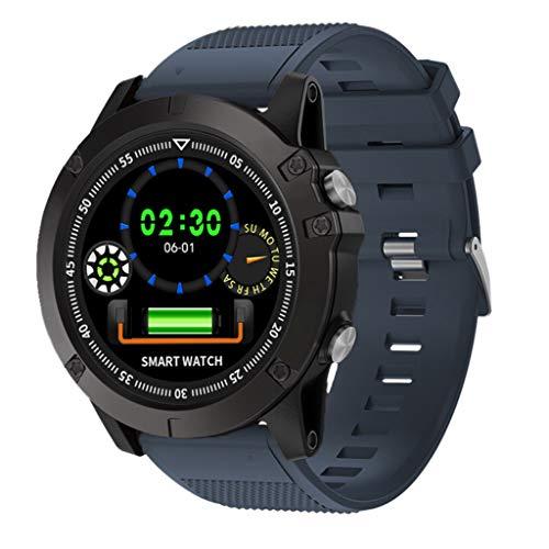 samLIKE Fitness Armband Uhr, Intelligente Uhr mit Herzfrequenzmessung Bluetooth Wasserdicht IP68 Smart Watch mit Pulsuhr Schrittzähler Blutdruckmessung für iOS Android