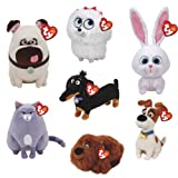 TY Beanie Babies Plush - Secret Life of Pets Movie Soft Toys (Complete set of 7) by TY Beanie Babies