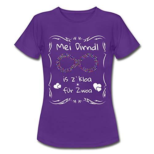 Spreadshirt Schwanger MEI Dirndl zu Kloa für Zwoa Frauen T-Shirt, XL,