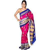 Rajarams Pink Color Patola Silk Pure Handloom