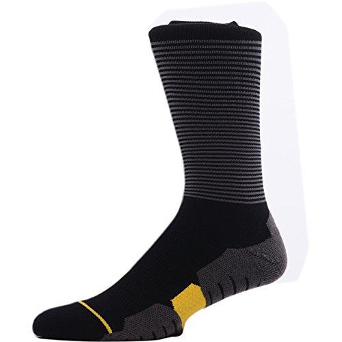 MEIKAN Professionelle Herren Socken Sportsocken Kompressionssocken aus Baumwolle, Schnell Trocken, Anti-Blasen, für Wandern, Trekking, Radfahren, Joggen, Fahren, Rennen schwarz 39-42
