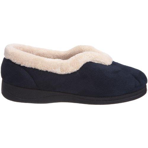 Blu Foderato Padders Navy Pelliccia Pantofole Pile E Donna Di Acqua Carmen Verde wg6HvgqT