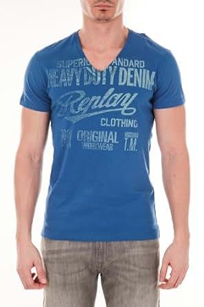 Tee Shirt Mc Replay Bleu Cobalt M