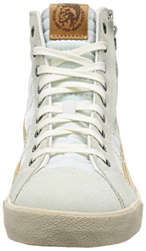 Diesel Herren D-Velows D-String Plus Mid Hohe Sneaker White Ice
