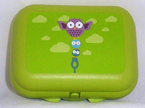 1a TUPPER Schulbrotdose TWIN - grün mit - Lunch-box Pinguin