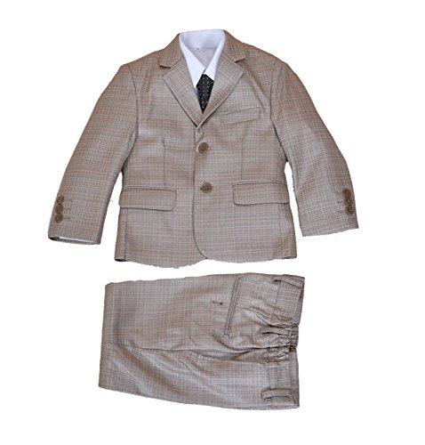 Cinda 5 Stück Boy Anzüge Hochzeit Anzug Junge Seite Partei-Abschlussball -Klagen Beige 98-104
