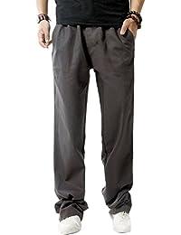 Youlee Hommes Élastique Taille Tout droit Pantalons avec Poches