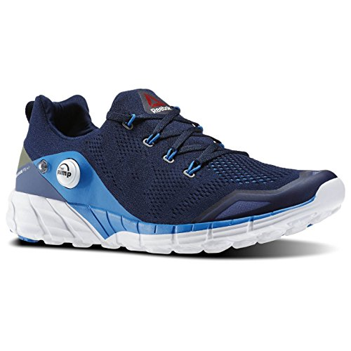 Reebok Zpump Fusion 2.0 Knit, Chaussures de Running Entrainement Homme Bleu / Vert / Blanc (Coll Navy/Blue Sprt/Mdnt Blu/Cnpt Grn/Wh)