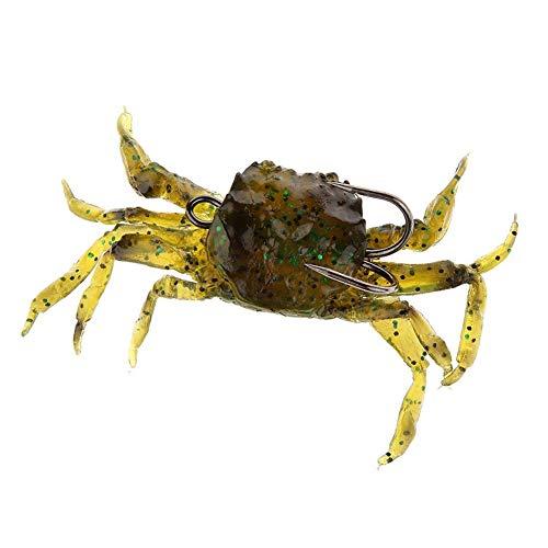 Ndier 10CM Crabe des appâts artificiels pêche Mous leurres Crabe appâts artificiels avec Sharp Crochets Jigging Tackle Faux fishbait Vert Articles Produits Sport