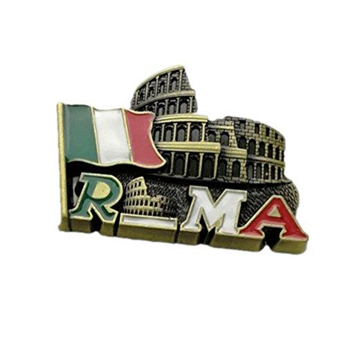 Bella Magnet Frigo Aimant Frigo Aimant Réfrigérateur Décor Voyage Vacances Souvenir Métal de Italie Tour Penchée de Pise Colisée Rome Fridge Magnet Sticker