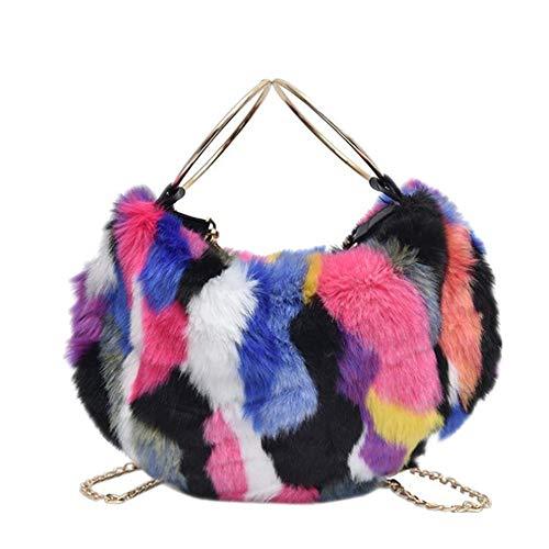 Slant-Span Einzelschulterbeutel Winter 2008 Kollisionsfarbe Wolltasche Kette Lady Bag Ringhandtasche schräg über einen Haarersatz Farbe Handtasche -
