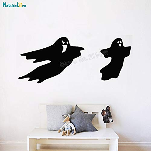 Halloween Spooky Ghost Design Wall Sticker Two Dolls Decals Home Decor For Living Room Self-adhesive Unique Art Murals Y 98x42cm
