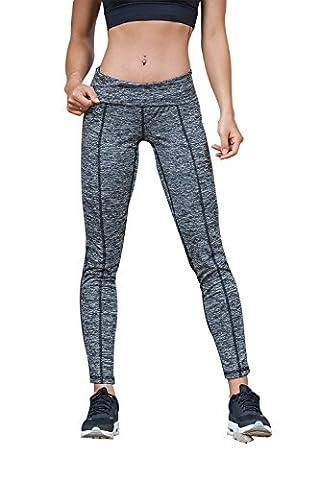 Mme pants pantalon de jogging de mode de yoga et une salle de sport transversale creuse la conception d'armure (Mdedium,