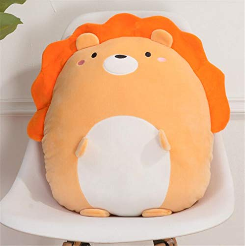Cuscini per Sedie da Giardino Cuscino Animale Cuscino Adorabile Leone, Panda, Aragosta Peluche Breve Peluche 35x40x16cm C