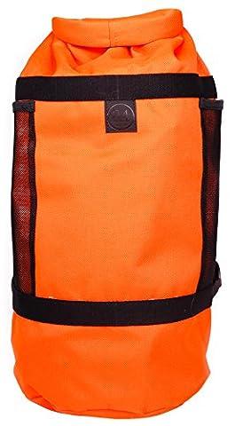 24Bottles Sportiva Bag - sacs à dos (Noir, Orange, Monotone, Cotton, Polyester, Poche latérale, Boucle à libération latérale)