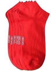 Weri Spezials Hommes Sneakers Chaussettes x3 Rouge
