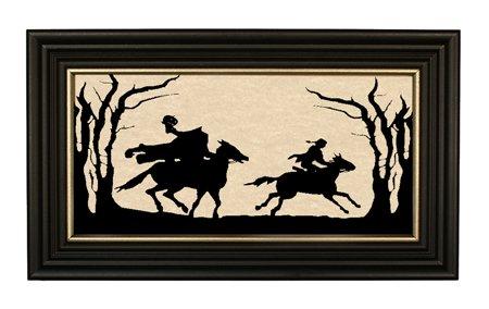 Madison Kopflosen Reiter Halloween Dekorationen Handgefertigt Silhouette 17,8x 30,5cm Wand Décor, gerahmt