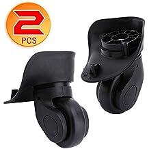 Dilwe Ruedas de Repuesto Maleta 1 Par Ruedas Universales de PVC para Equipaje Maleta Trolley (