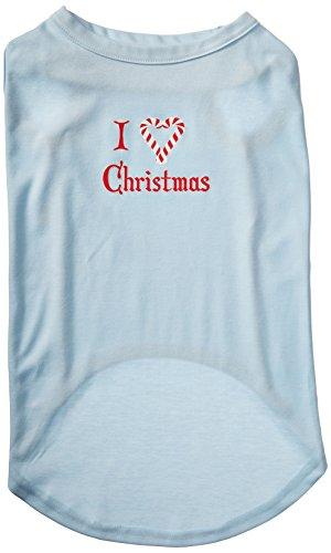 Mirage Pet Products 50,8 cm I Heart Weihnachtshemd für Haustiere, Siebdruck, 3 XL, Babyblau -