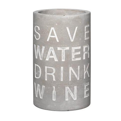 räder BETON FLASCHEN- & WEINKÜHLER Save water drink wine