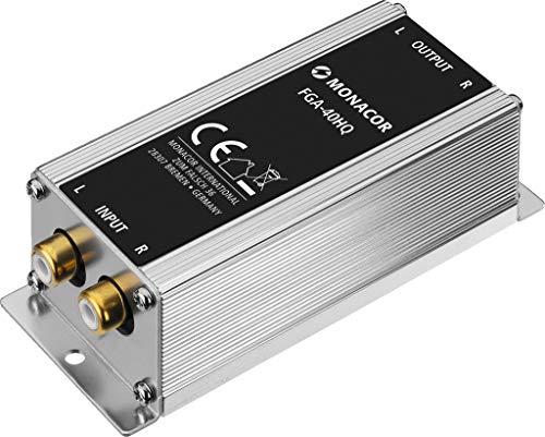 MONACOR FGA-40HQ High-End Massetrennfilter Mantelstromfilter Stereo-Line-Übertrager