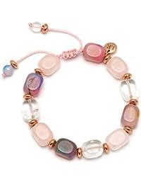 Lola Rose Angel Beryl Stone and  Candy Floss Agate Bracelet of Length 22-26cm