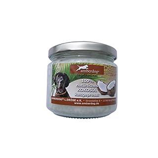Kokosöl-für-Hunde-Tiere gegen Zecken 250ml von Amberdog® - Das ORIGINAL