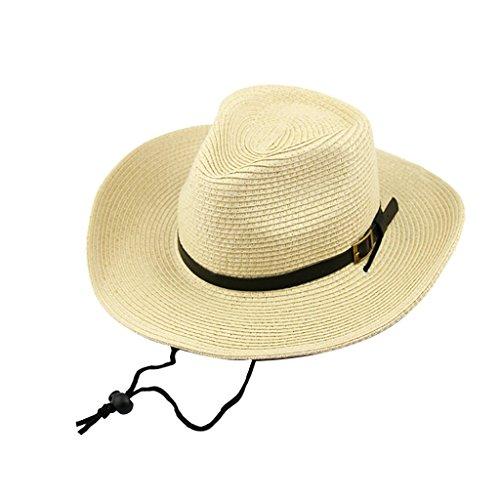 Générique Casquette Chapeau Bonnet en Paille Cow-Boy Mode Western Costume