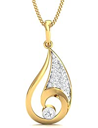 Stylori 18k Yellow Gold And Diamond Conch Pave Pendant